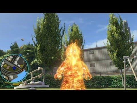 LEGO Marvel Super Heroes - Human Torch Free Roam Gameplay