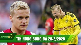 TIN NÓNG BÓNG ĐÁ 28/5 | Dortmund lo lắng chấn thương của Haaland | Real đánh úp MU giành Van de Beek