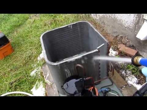 HVAC:RUUD CONDENSING UNIT FULL CLEANING PART 1