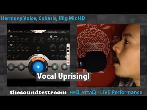 Harmony Voice vocal harmonizer for iPad Live session │ haQ attaQ