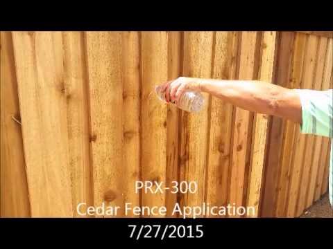PRX-300 Protecting a Cedar Fence