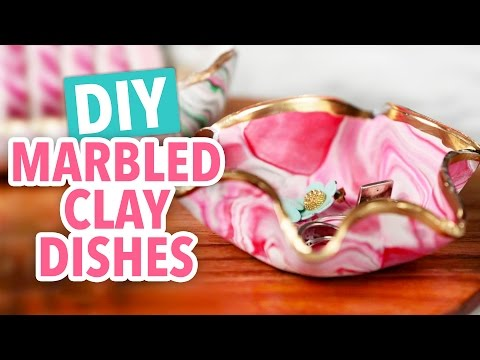 DIY Marbled Clay Dishes - HGTV Handmade