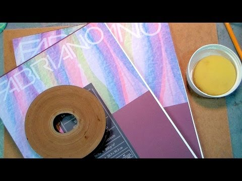 How to Stretch Watercolor Paper (cheap & easy method!)