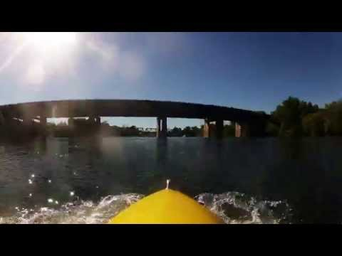 Time Lapse Paddle - American River from Paradise Beach to Sutter's Landing