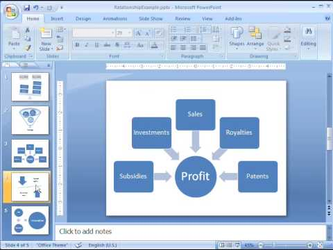 Office 2007 Demo: Create a relationship graphic