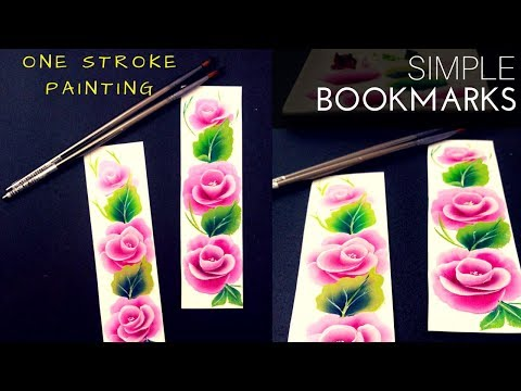 How to make Bookmarks | Quick and simple one stroke painting | Acrylic painting