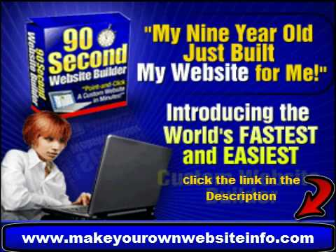90 Second Website is an Easy Website Builder - No html REQUIRED