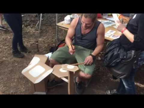 Cardboard drum set