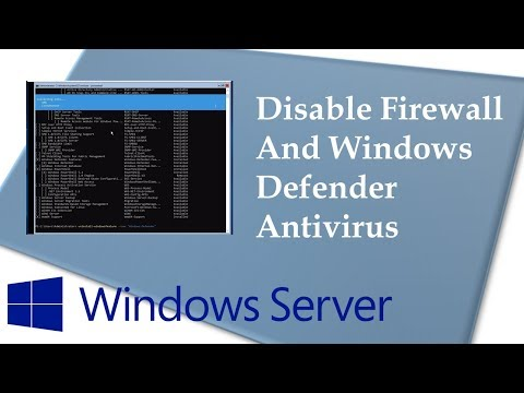 Disable firewall and antivirus in Windows Server 1709 (Server Core)