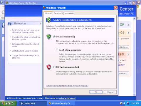 How to Enable Firewall in Windows XP
