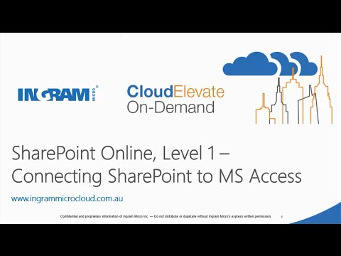 Connecting SharePoint Online to Access