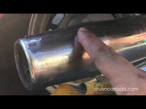 Sandpaper to remove rust and scratches from Chrome