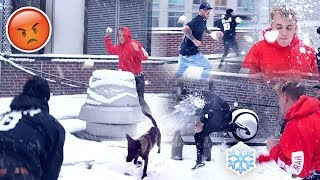 INSANE TEAM 10 SNOWBALL FIGHT **APOLLO GOT HIT**