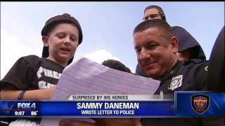 Fort Worth Police surprise 6 year old who wrote thank you letter