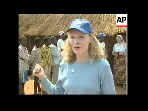 UN goodwill ambassador visits famine hit country