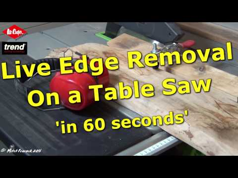 Converting Live Edge Boards on a Table Saw