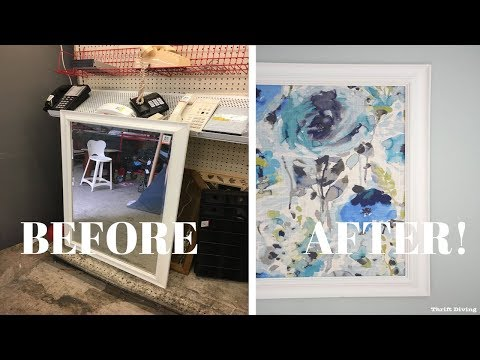 Framed Fabric Wall Art Using a Picture Frame: DIY Wall Art - Thrift Diving