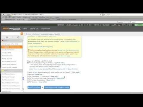 Configure a Server Using EasyApache & WHM cPanel