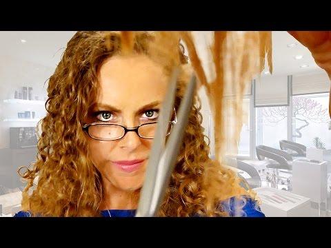 Asmr Haircut Salon Roleplay W Binaural Scissor Sounds Hair