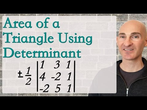 Area of a Triangle Using Determinant