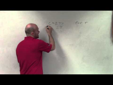 Learn how to solve for radius r in the formula for circumference of a circle