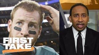 Stephen A. Smith says Tom Brady over Carson Wentz for NFL MVP | First Take | ESPN