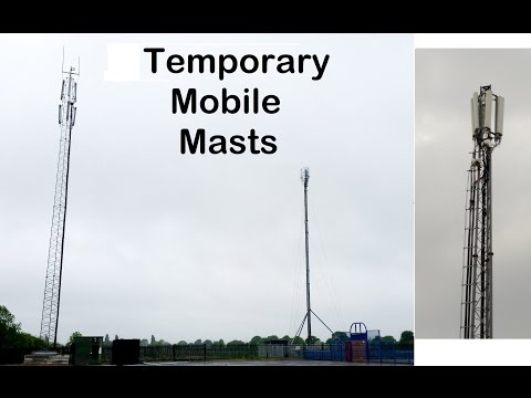 Temporary Mobile Masts (CoWs) from Vodafone, EE, 3 and O2
