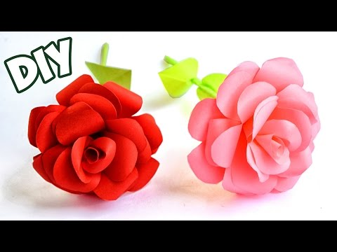 How to make Easy Paper ROSE | Crafts Tutorial