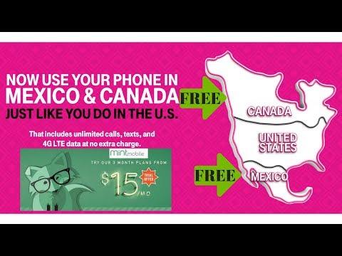 Mint Mobile now has FREE calls to Mexico & Canada mintmobile.com mint sim cosco mejico MNVO