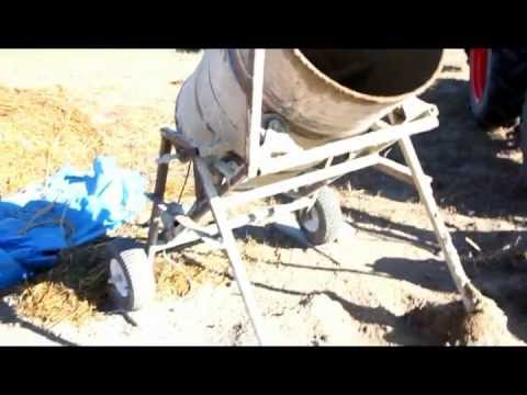 Cement Mixer - Home Built 45 Gal Drum