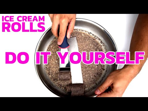 Ice Cream Rolls - DIY RECIPE | How to make Ice Cream Rolls at home - with Oreo & Brownie