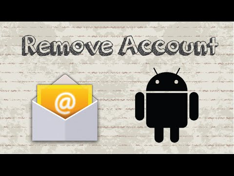 How to remove email account from Android device