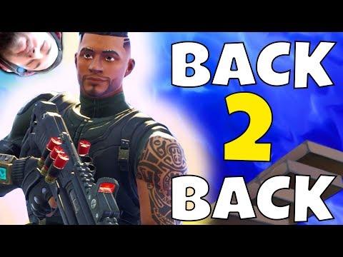 BACK TO BACK WINS! (FORTNITE BATTLE ROYALE)