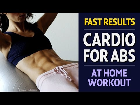 Amazing Cardio Abs workout for women - Abdominals, obliques, core - Fast results