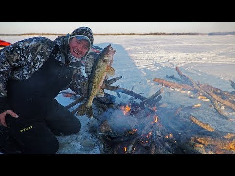 ULTIMATE Ice Fishing Catch and Cook!!!