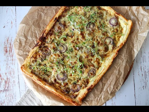 The Best Creamy Mushroom Puff Pastry Tart - By One Kitchen