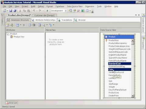 SSAS: Defining and Deploying a Cube