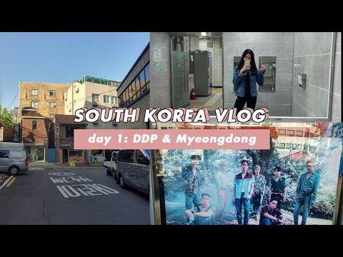 SOUTH KOREA VLOG 1 || DONGDAEMUN & MYEONGDONG
