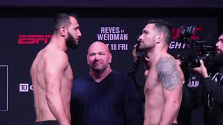 UFC Boston Ceremonial Weigh-Ins: Chris Weidman vs. Dominick Reyes