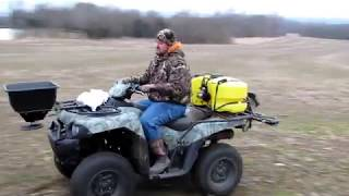 Download Frost seeding Cave in Rock warm season switch grass Illinois wildlife & quail cover Video