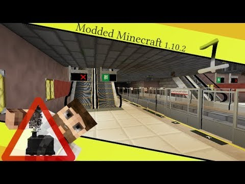 The Subway Station - MyRail #1 [Modded Minecraft 1.10.2] transit rail