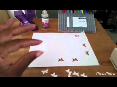 How to make glossy butterfly stickers at home