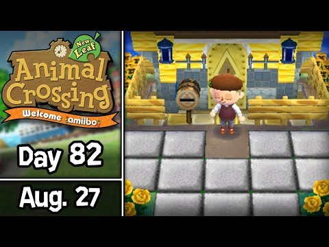 Animal Crossing: New Leaf, Day 82 • August 27 • Welcome amiibo Update