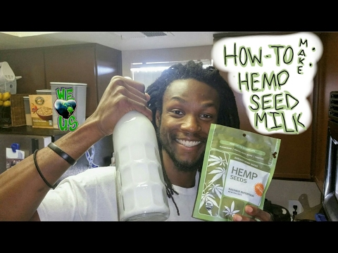 How to make simple Hemp seed milk | @locsthechef