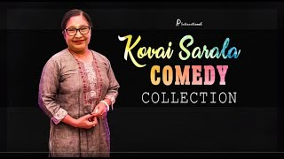 Kovai Sarala Comedy Collection | Kovai Sarala Comedy Scenes | Soori | Rajendran | Manobala | Balaji