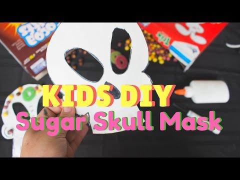 DIY Kids Sugar Skull Mask