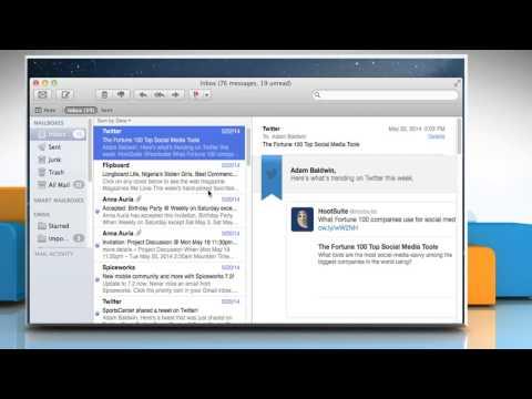 How to set up an e-mail alias in Mac® OS X™ Mail app