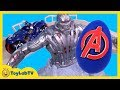 Giant Superhero Play Doh Surprise Egg Toy Opening amp Hotwheels Avengers Tower Takeover Playset