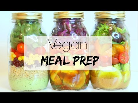 VEGAN MEAL PREP | 3 Mason Jar Salads (Easy & Healthy)