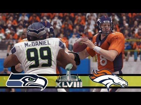 Seattle Seahawks vs Denver Broncos - Super Bowl XLVIII - Madden 25 (PS4) Simulation